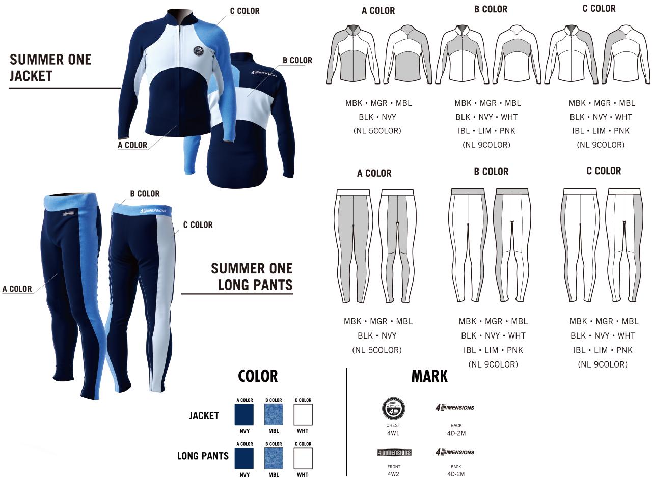 4DIMENSIONS|4Dウェットスーツ|SUMMER ONE|カラー・マーク